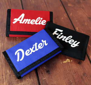 Personalised Children's Name Wallet - baby & child sale
