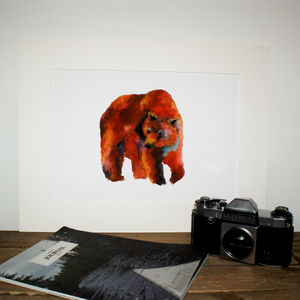 Brown Bear Print