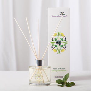 Lemongrass And Mint Reed Diffuser - candles & home fragrance