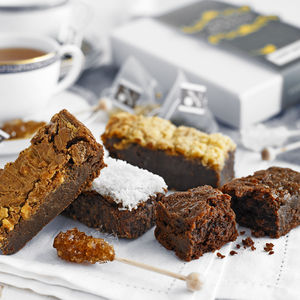 Box Of Brownies And Tea - brownies