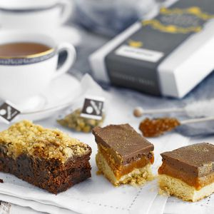 Millionaire's Shortbread, Brownie And Tea Box - brownies