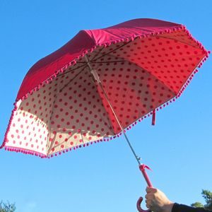 Spotty Pom Pom Umbrella - umbrellas & parasols