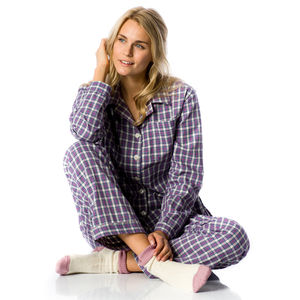 Women's Brushed Cotton Pyjamas In Regular And Tall Leg - women's fashion
