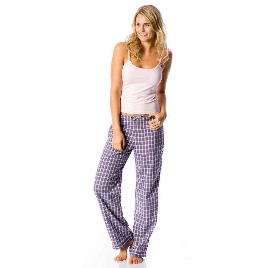 women's brushed cotton pyjamas in regular and tall leg by pj pan ...