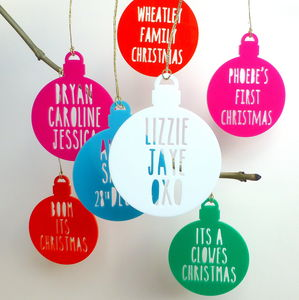 Personalised Message On A Bauble - tree decorations
