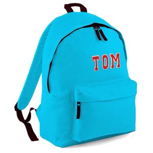 Personalised Appliqué Name Backpack Turquoise - backpacks