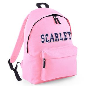 Personalised Appliqué Name Backpack Powder Pink