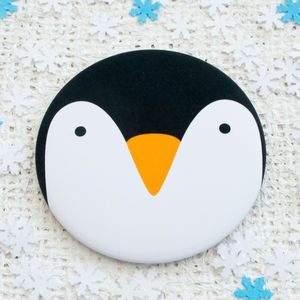 Penguin Pocket Mirror Or Magnet
