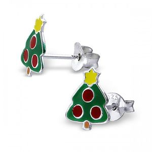 Sterling Silver Christmas Tree Earrings - view all sale items