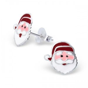 Sterling Silver Christmas Santa Earrings - earrings
