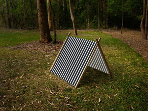 Stripy Black Collapsible Play Tent