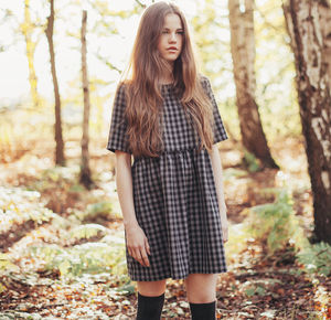 Beatrice Checkered Smock Dress - dresses