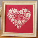 Floral Heart Print, Wedding Or Anniversary