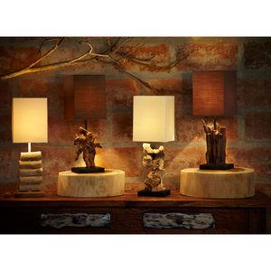 Mini Logs Horizontal Driftwood Table Lamp
