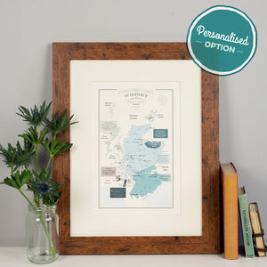 Whisky Map Of Distillery Regions In Scotland Print - shop by price