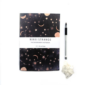 Constellations A5 Notebook With Lined Pages - stylish stationery ideas
