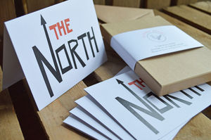 'The North' Gift Box Of Five Note Cards