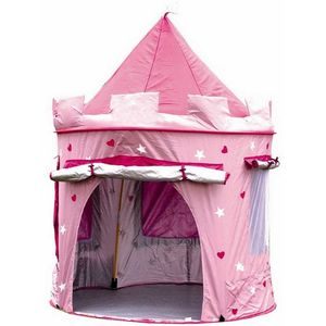 Deluxe Pink Castle Play Tent - outdoor toys & games