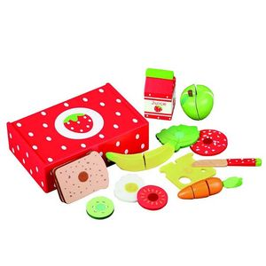 Wooden Strawberry Sandwich Set - play scenes
