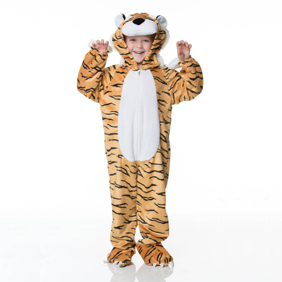Childrenu0027s Tiger Dress Up Costume  sc 1 st  Notonthehighstreet.com & childrenu0027s tiger dress up costume by time to dress up ...