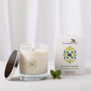 Lemongrass And Mint Aromatic Candle