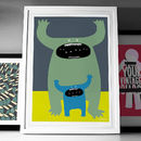 Mummy Or Daddy Monster Fine Art Giclée Print