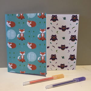 Forest Friend Notebooks, Set Of Two