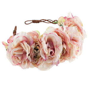 Blossom Floral Rose Crown Headband - head pieces