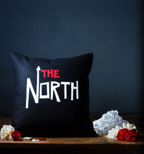 'The North' British Wool Appliqué Cushion