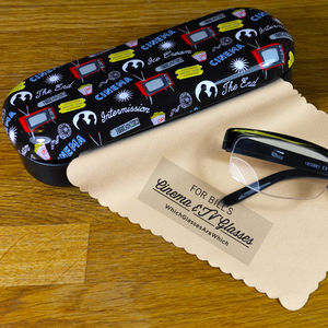 Personalised Cinema & TV Glasses Case - glasses cases