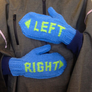 Cycling Gift Woolly Mittens For Bike Lovers