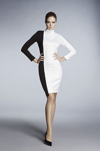 Day And Night Monochrome Jersey Dress - contemporary women's fashion