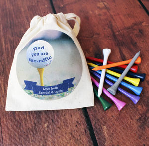 Personalised Golf Tees In A Bag