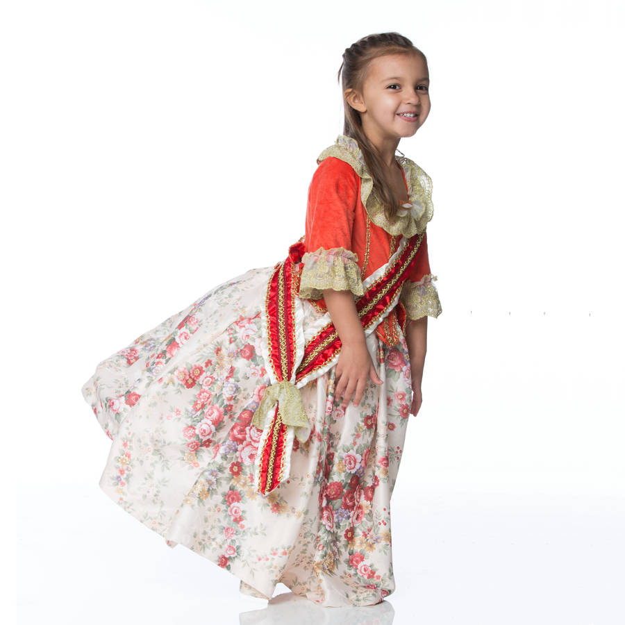 Dress Up: Children's Floral Countess Dress Up Costume By Time To