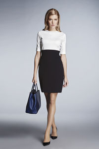 Jackie Monochrome Jersey Dress - women's fashion