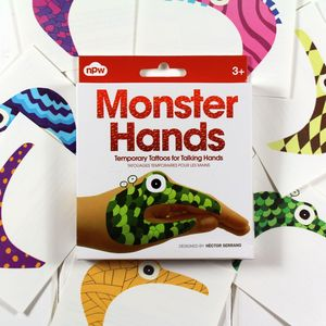 Children's Monster Hand Tattoos - party bags and ideas