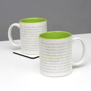 Binary Code 'Brew' Mug - mugs