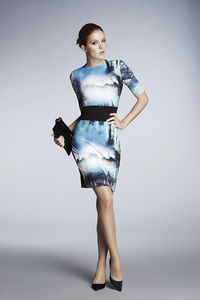 Meribel Printed Jersey Dress