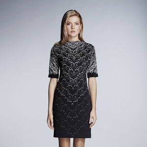 Delicate Lace Print Dress - women's fashion