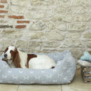 Luxury Stylish Dog Bolster Bed In French Grey