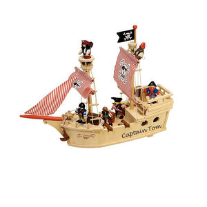 Choose From Two Personalised Wooden Pirate Ships - toys & games