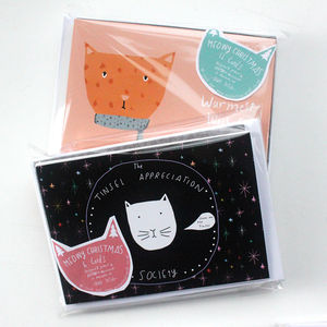 Meowy Christmas Card Pack - cards & wrap