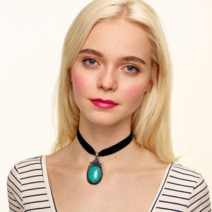 Zaria Turquoise Choker Necklace - jewellery & accessories