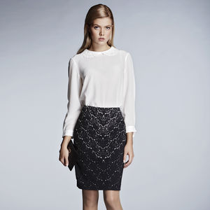 Lace Print Skirt - women's fashion