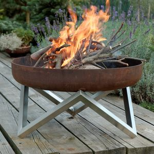 Personalised Yanartas Steel Fire Pit - 25th anniversary: silver