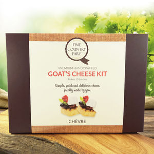 Make Your Own Goat's Cheese Kit - food & drink gifts under £30