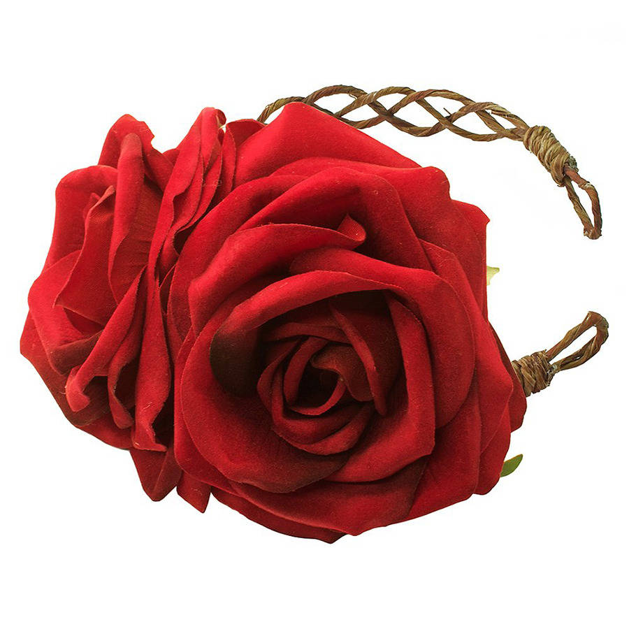 grace red rose crown fascinator headband by rock  n rose ... 00202f7536b