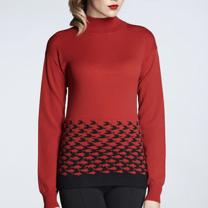 Merino Wool Turtle Neck Sweater - tops
