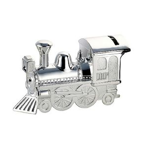 Personalised Silverplate Train Money Box - children's storage