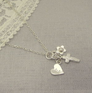 Personalised Birthstone Christening Necklace